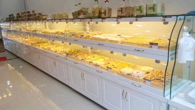 高档白色烤漆面包柜