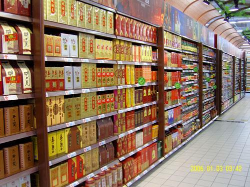 商场咖啡色大货架 定做大型商场