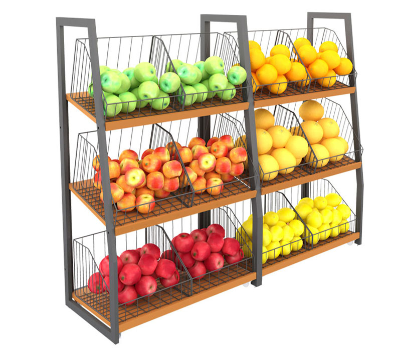 <b>超市生鲜区精品蔬菜货架</b>