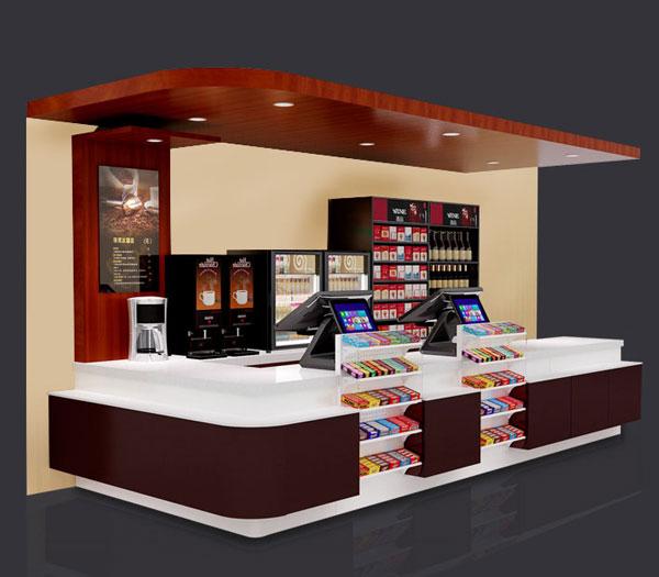 超市组合收银台
