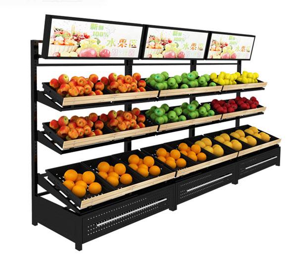 三层蔬果货架批发