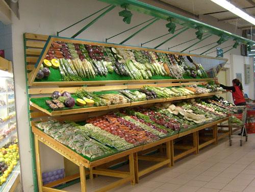 成哪里可以订做超市木制水果展示货架