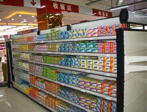 五福超市货架案例图