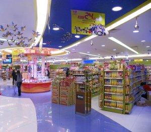 大型超市货架案例图展示