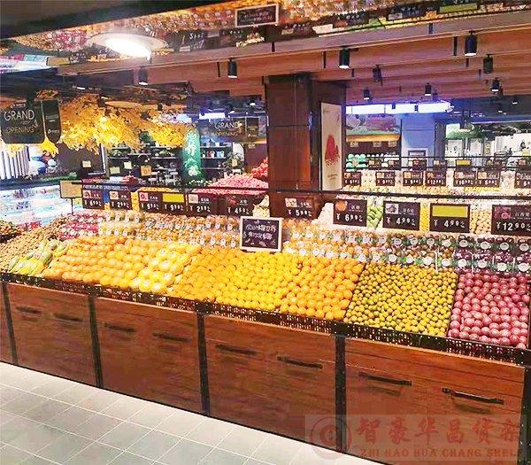 超市中岛散装货架