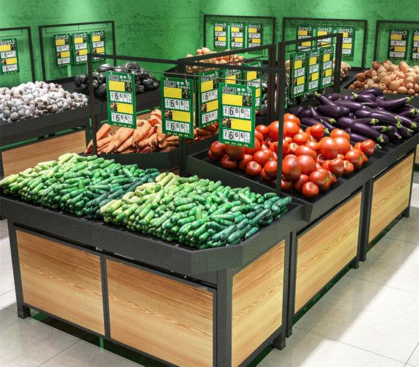 新款钢木蔬果货架